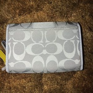 "Coach Bifold Gray Wallet 5"" x4"""